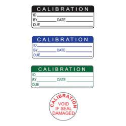 Calibration Stickers / Labels